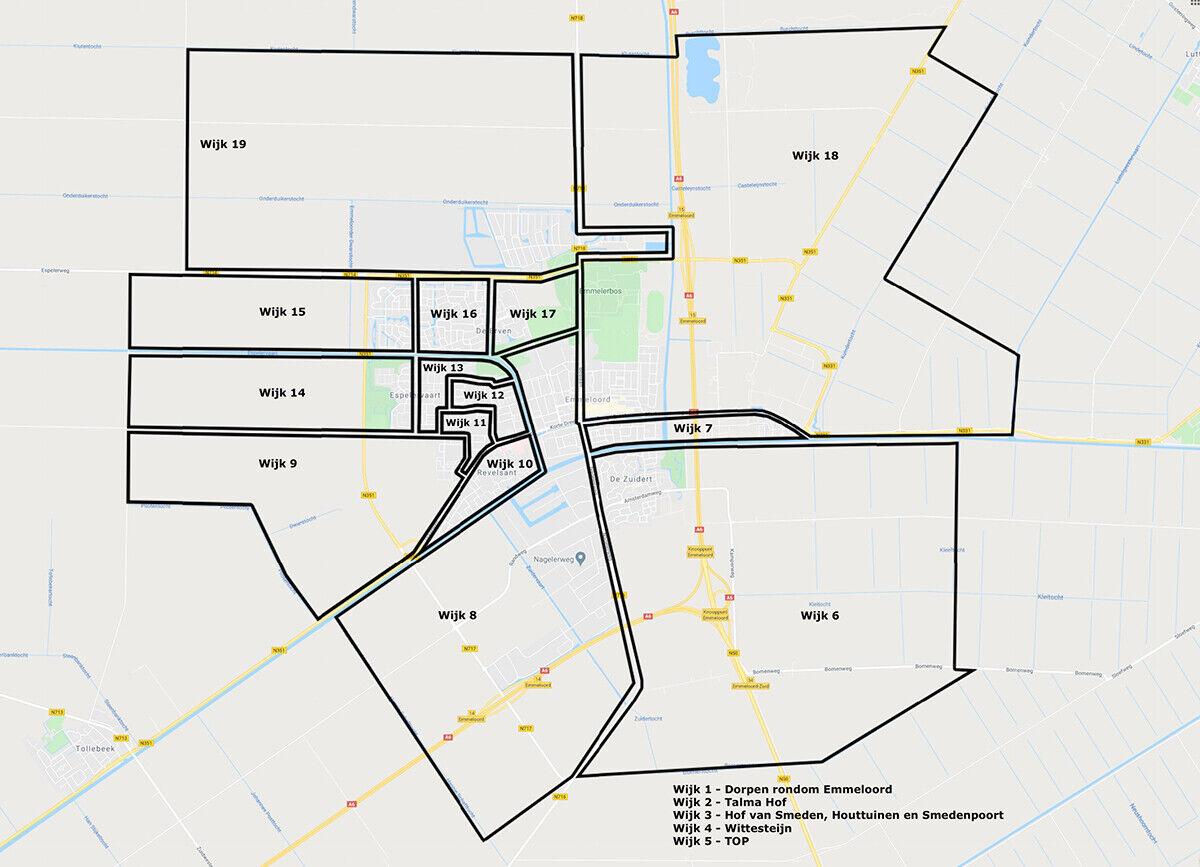 wijkindelingskaart